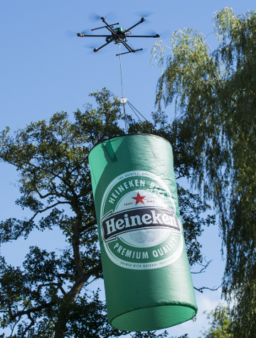 drone heineken advert